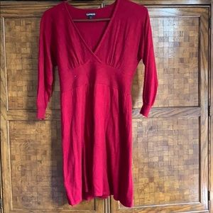 Express 3/4 sleeve sweater dress